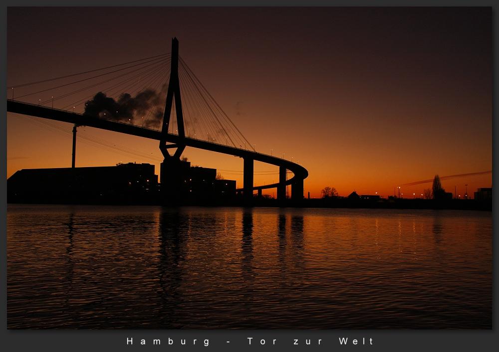 Hamburg Köhlbrandbrücke Foto 3
