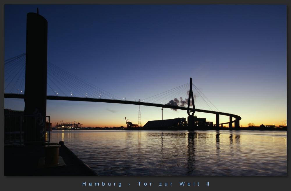 Hamburg Köhlbrandbrücke Foto 2